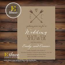 couples shower invitations printable rustic wedding shower invitation kraft paper and