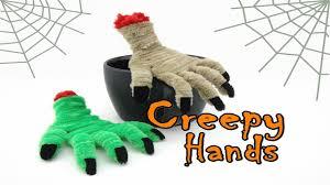 halloween craft halloween craft pipe cleaner creepy hands youtube