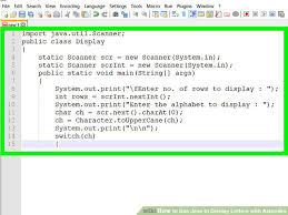java pattern programs for class 10 how to use java to display letters with asterisks with pictures