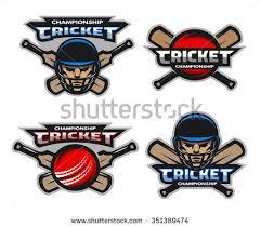 new design helmet for cricket set cricket sports logos emblem stock photo photo vector