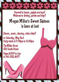 dress sweet 16 birthday invitations candles and favors