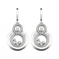 diamond earrings online 839210 1001 buy online chopard happy 8 white gold diamond earrings