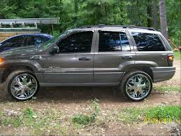 2000 jeep grand cherokee rims side view of the new rims i love