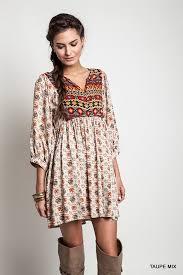 boho baby doll dress taupe online clothing boutiques boho baby
