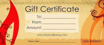 gift certificates gift certificates the soulblazing institute