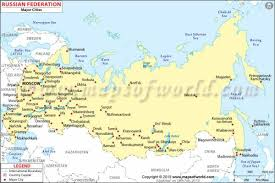 russia map with all cities russia map holidaymapq