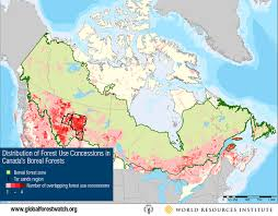 A Map Of Canada by Tar Sands Threaten World U0027s Largest Boreal Forest World Resources