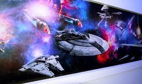 wall graphics gamut media snoop dogg star wars vs star trek