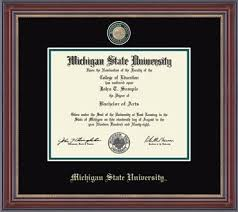 of michigan diploma frame msu diploma frame