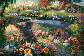 alice in wonderland limited edition art thomas kinkade thomas kinkade alice in wonderland painting