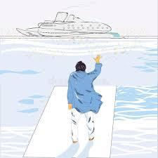 man waving hand stock illustration image of vessel water 41081233