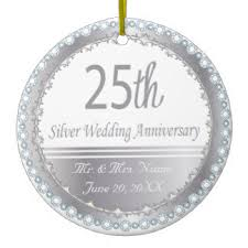 25th wedding anniversary christmas ornament 25th anniversary gifts on zazzle