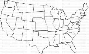 United States Blank Outline Map by Maps Weathertrends360 Blank Outline Maps Of The 50 States Of The