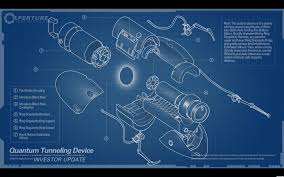 portal gun blueprints wallpaper art pinterest portal guns