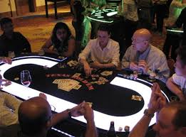 Texas Holdem Table by Casino Parties With Lighted Tables Lighted Poker Tables