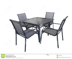 deck table and chairs outdoor glass table and chairs stock image image of outdoors