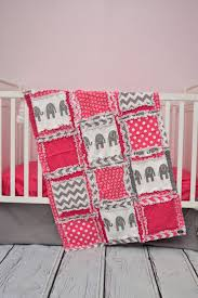 Pink And Gray Nursery Bedding Sets by Nursery Beddings Pink And Brown Elephant Crib Bedding In