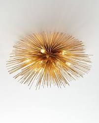 wearstler strada flush mount ceiling light