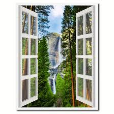 home decor waterfalls waterfalls yosemite national park california picture window wall