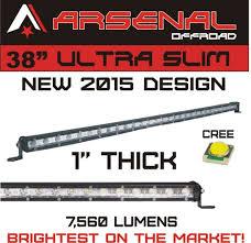 60 inch led light bar 38 cree single row led light bar