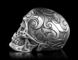 Celtic Skull - celtic skull gunmetal mini design clinic figuren shop de