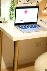 pieds de bureau ikea diy 18 déco un bureau customisé avec des pieds or c by clemence