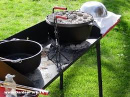 lodge dutch oven table how to cook with cast iiron dutch ovens with gary house diy living