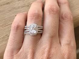 emerald cut wedding set emerald cut bridal ring set rectangle engagement ring set