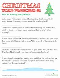 christmas word problems 1 worksheet education com