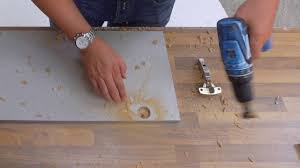 how to drill hinge hinge holes in kitchen doors kitchen