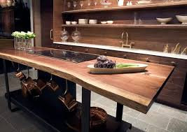 Kitchen Freestanding Island Kitchen Island With Live Edge Countertop Eclectic Kitchen