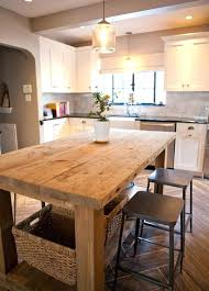 Size Of Kitchen Island With Seating Kitchen Island Table Ideas Corbetttoomsen