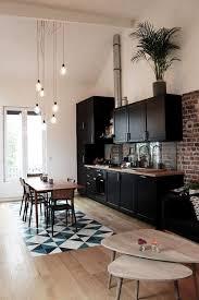 Studio Kitchen Design Black Kitchen Decor Interior U0026 Lighting Design Ideas