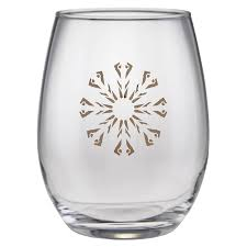 stemless wine glasses hagan house stemless wine glass set 22k gold shop flw
