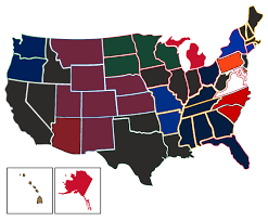 Oregon Map Us by Most Popular Nhl Teams By Us State Vivid Seats