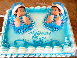baby shower cake ideas for twin boy and twin boy and