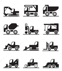 construction trucks and vehicles u2014 stock vector angelha 14758369