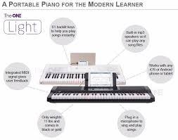 piano keyboard with light up keys teach user to play the one light 61 keys usb smart piano keyboard