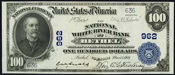 1917 one hundred dollar bill national currency value and information