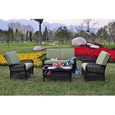 Wicker Sectional Patio Furniture by Hg020102 Cf Odaof 4 Piece All Weather Sectional Outdoor Rattan
