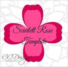 diy paper rose pattern diy paper rose flower templates diy