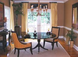 Dining Room Curtains Ideas by Formal Dining Room Curtain Ideas White Cotton Table Runner Brown
