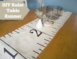 make your own table runner diy ruler table runner