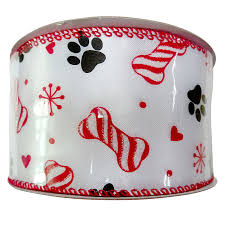 paw print ribbon peppermint paw print ribbon 2 5 in x 10 yd at home at home