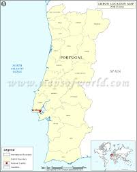 Dubai On Map Where Is Lisbon Location Of Lisbon In Portugal Map