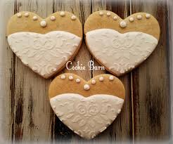 wedding gown decorated cookies bridal shower wedding favors