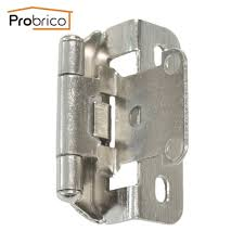 aliexpress com buy probrico self close kitchen cabinet hinge aliexpress com buy probrico self close kitchen cabinet hinge brushed nickel ch199bsn partial wrap 1 4 inch overlay furniture cupboard hinge from reliable