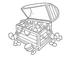 coloring page treasure chest color online coloringcrew 762316