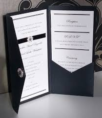wedding invitations ebay formal black tie diamante pocketfold wedding invitation