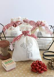 diy stamped christmas gift bags bloggers best 12 days of